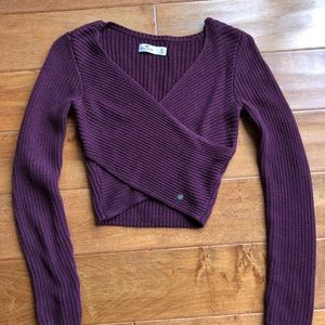 Hollister front wrap sweater